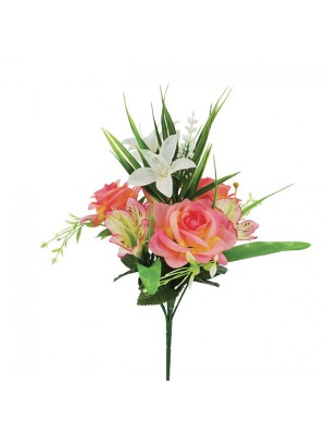 Мини букет от изкуствени цветя 43cm
