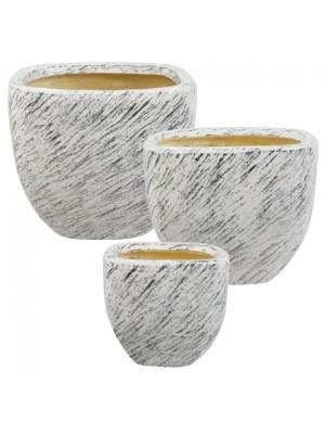 Керамична кашпа сет 3бр 27x23 21x17.5 16x13.5
