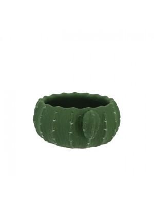 Керамична кашпа зелен кактус  17x8 2/24