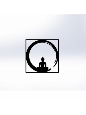 Стенно метално пано Буда HM7210