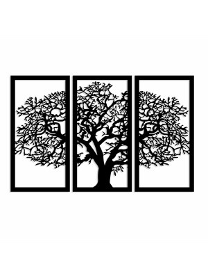 Дървено стенно пано от 3 елемента дърво HM7221