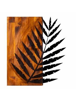 Дървено стенно пано с метално листо HM7225