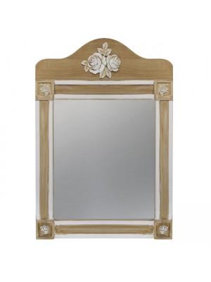 Стенно Огледало Melody HM7009.01 кремава/кафява патина 56Χ77.50