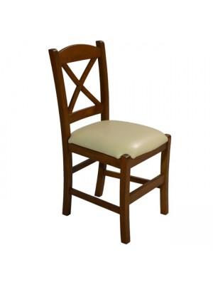 Стол от масивен орех със кремава седалка RIO HM10095.01