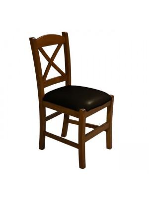 Стол от масивен орех със кремава седалка RIO HM10095.02