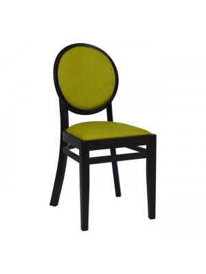 Трапезарен стол от дъбово дърво в черен цвят G-502