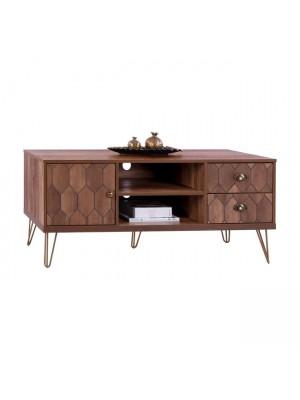 ТВ шкаф Philippa HM8674 цвят орех 130x39,5x51 cm.