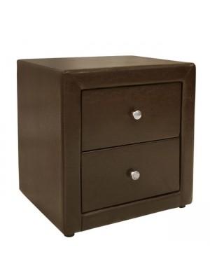 Нощно шкафче Mone HM2219.01 кафява кожа