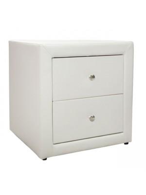 Нощно шкафче Mone HM2219.02 бяла кожа мат