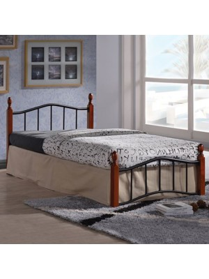 Bed Metallic-Wooden Lucy HM301 90x190