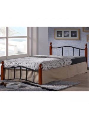 Bed Metallic-Wooden Lucy HM303 150x200