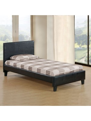 Bed Fenia 110x190 Brown PU HM530.01