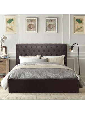 Bed Queen HM365.01 Double 150x200 T. Chesterfield Dark Brown
