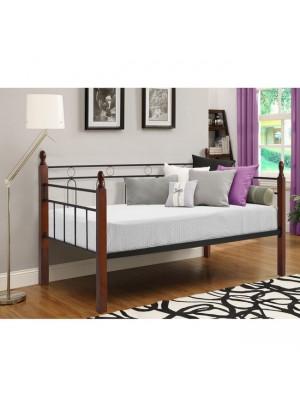 Единично легло Mila HM367 дърво и метал 90x190.5