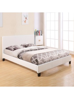 Bed Becca with White PU HM553.01 150x200