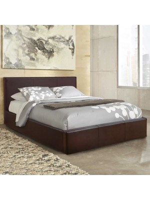 Bed Bobbi PU brown with storage space HM554.02 150x200