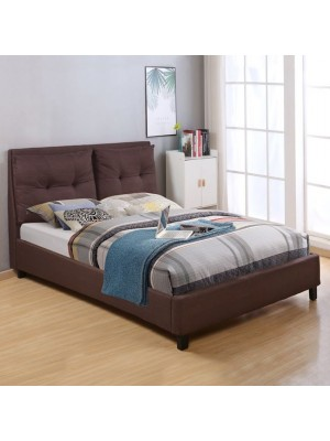 Bed Billie with fabric in brown color HM551.02 160x200