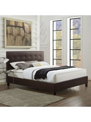 Bed Brisa with Brown PU HM552.02 150x200