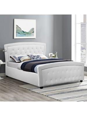 Спалня Odelia бяла кожа HM550.01 150x200