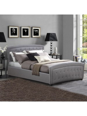 Bed Odelia with Dark Grey PU HM550.05 150x200