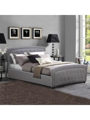 Спалня Odelia тъмно сива кожа HM550.05 150x200