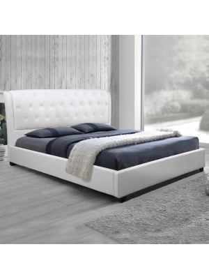 Bed Odalys with White PU HM549.01 150x200