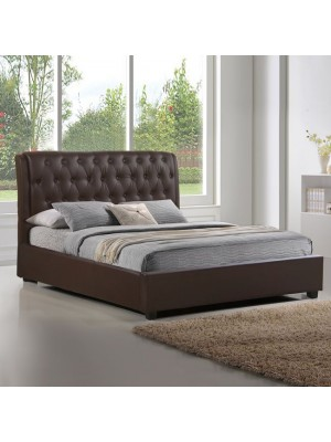 Bed Odalys with Brown PU HM549.02 150x200