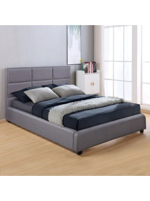 Bed Briley with Dark Grey Fabric HM555.05 150x200