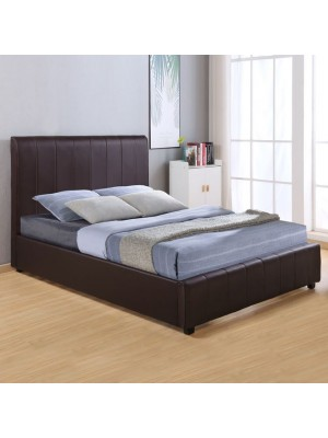 Bed Beccy with PU Brown HM556.02 150x200