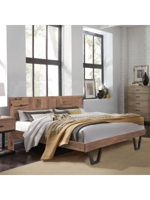 Bed HM8383 Jaida from metallic and solid mango wood 166x209x86.5