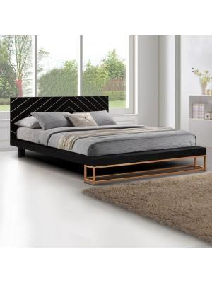 Спалня Sherri HM8358 160x200 cm масивно мангово дърво и метална стойка