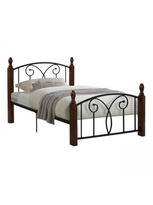 Bed Suzie Metal Wood for mattress 90x190 HM389