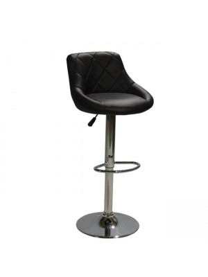 Bar Stool Rose HM204.01 with gas lift & black PU