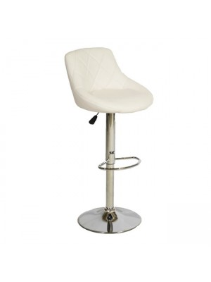 Bar Stool Rose HM204.02 with gas lift & White PU