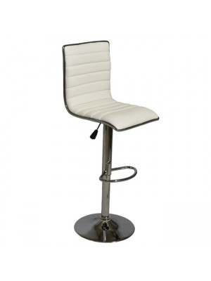 Bar Stool Nexus with gas lift & white PU HM209.02