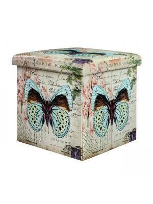 ТАБУРЕТКА РАКЛА HM258 Butterfly 38X38X38 HM258