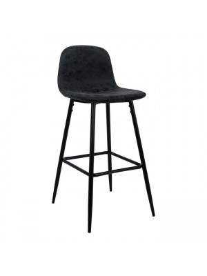 Bar Stool Vintage with Grey PU and metallic frame HM0198.10