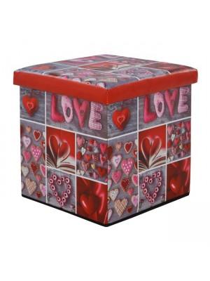 ТАБУРЕТКА РАКЛА Love 38X38X38 HM8127