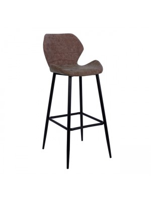 Bar Stool Maya HM8042.03 Metallic with Brown PU