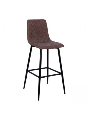Bar Stool Jonas HM8043.03 Metallic with Brown PU