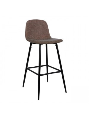 Bar Stool Vintage with Brown PU and metallic frame HM0198.03