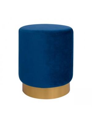 Табуретка Levy HM8408.08 синя със златна база