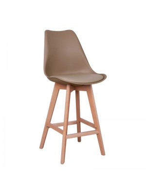 Bar Stool Vegas HM8000.25 Cappuccino color 47,5x55x105h cm
