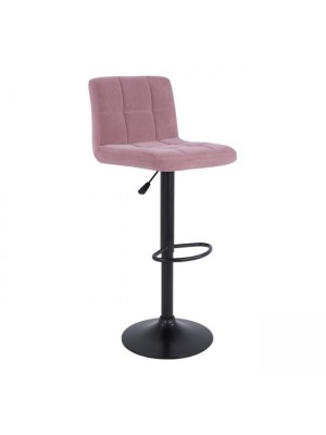 Bar Stool Diana HM202.12 Velvet Rotten Apple & Black Matte Frame