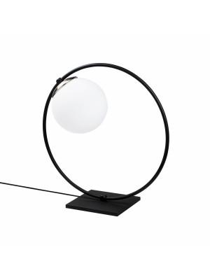 Метална настолна лампа черно и бяло HM7297