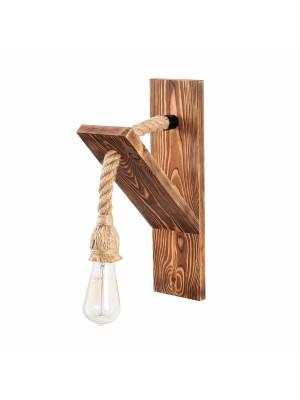 Аплик с дървена стойка и въже HM7302