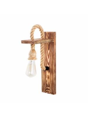 Аплик с дървена стойка и въже HM7303