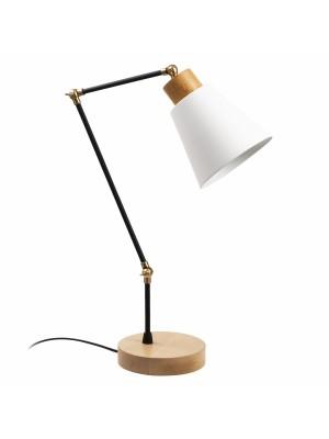Настолна лампа с чупещо рамо и бяла шапка HM7273