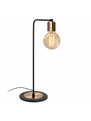 Настолна метална лампа с винтидж дизайн HM7274