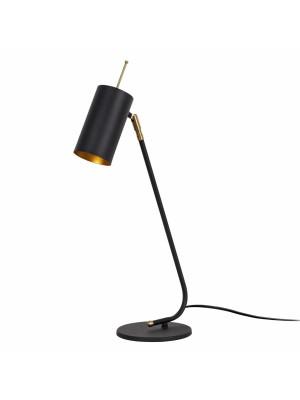 Настолна метална лампа в черно и златно HM7277